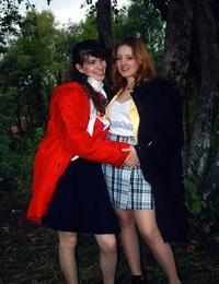 Angelic teen lesbians love pleasuring their dirty cunts